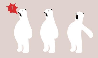 白クマのイラスト 2 Ec Designデザイン