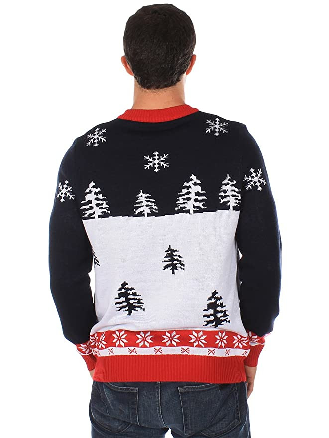 Amazon.com: Ugly Christmas Sweater - Yellow Snow Sweater by Tipsy ...