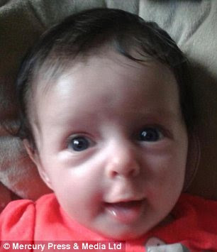 Victim: Ava-Jayne Corless, aged 11 months, has been mauled to death by a pet dog