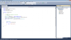 Picture 4. How to create Web Service in ASP.NET