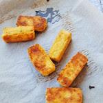 Ricotta and polenta chips with sage salt