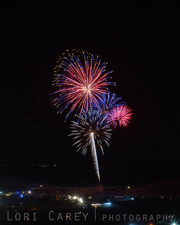 Fireworks over Ocotillo Wells for the 50th anniversary of Tierra del Sol's Desert Safari