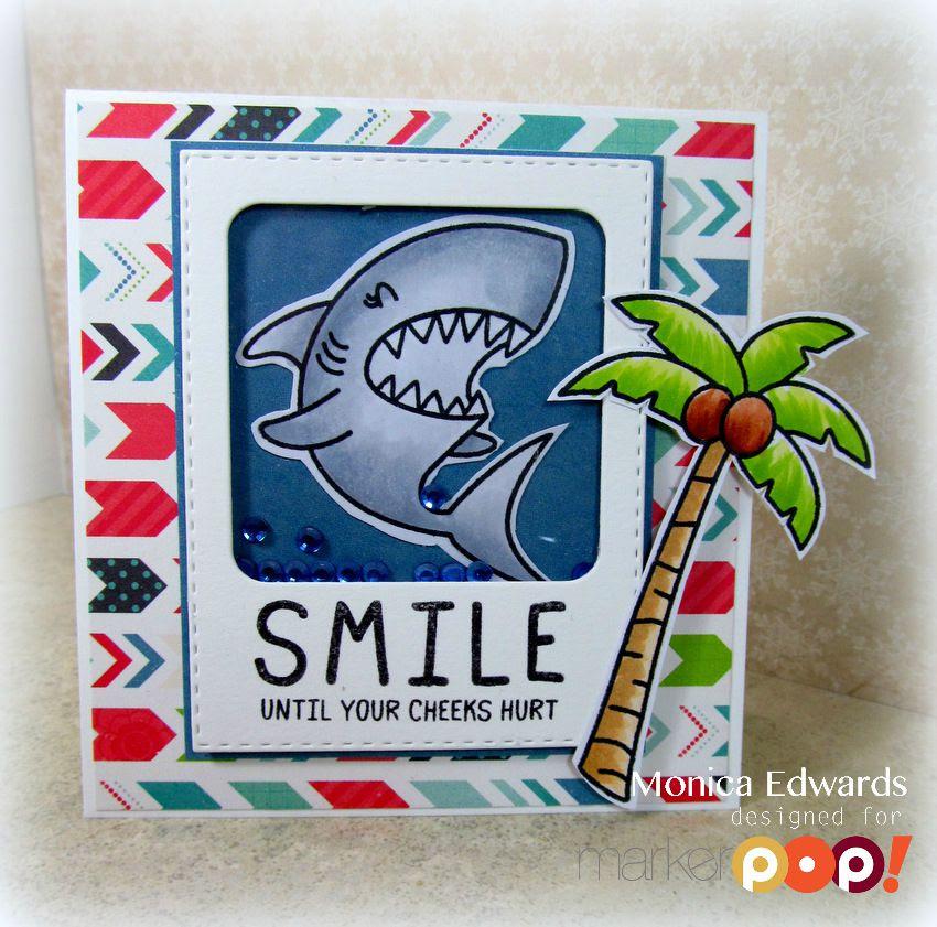 shaker card monica edwards