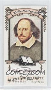 2010 Topps Allen and Ginter Mini World's Greatest Word Smiths #WGWS2 - William Shakespeare - Courtesy of CheckOutMyCards.com