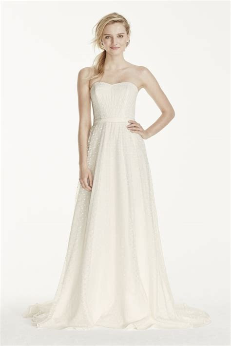 galina strapless polka dot   wedding dress style wg