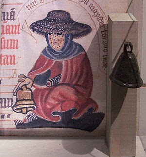 Medieval leper bell at the museum Ribes Viking...
