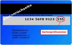 KartenprГјfnummer Visa