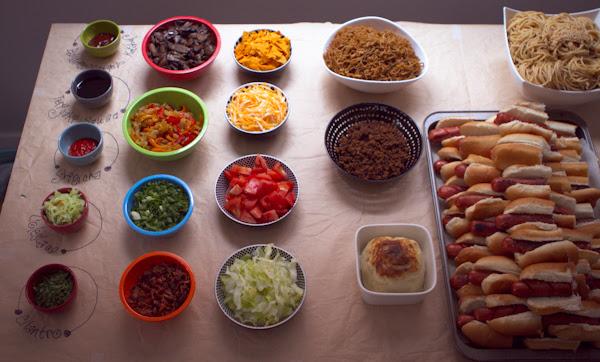 housewarming hot dog party
