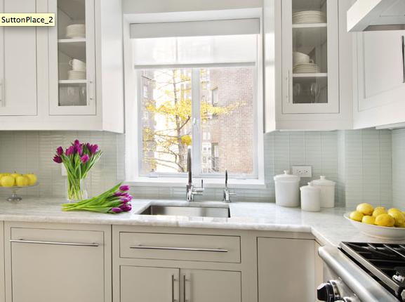 Blue Glass Tile Backsplash - Contemporary - kitchen - Interiors by ...