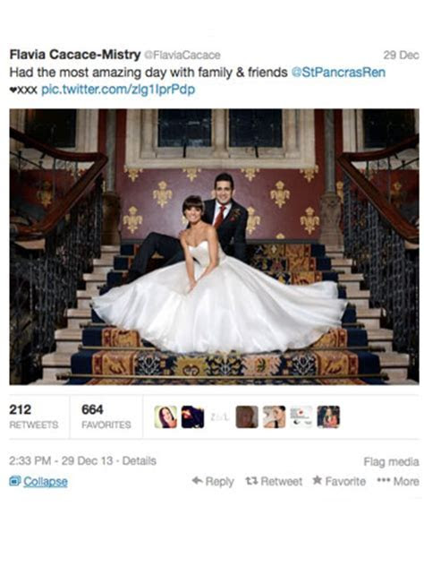 WEDDING JOY! Flavia Cacace and Jimi Mistry have romantic