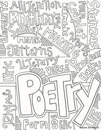 Writing Coloring Pages and Printables - Classroom Doodles