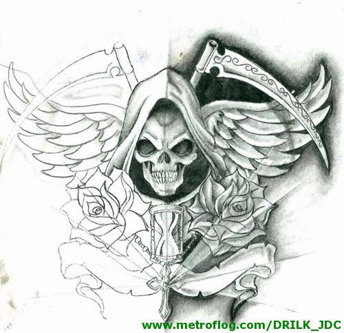 Imágenes De La Santa Muerte Para Dibujar Imágenes De La Santa Muerte