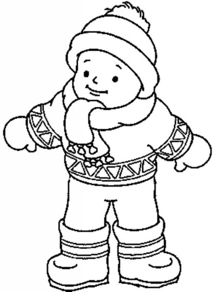 Download Children With Winter Cloths Coloring Pages - Coloring Home
