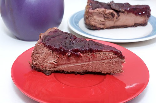 black forest cheezecake