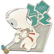 London 2012 Olympics Mascot Field Hockey Pin