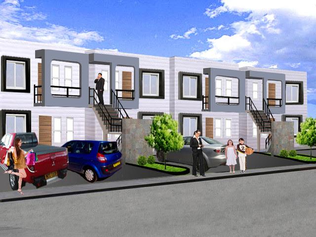 Apartments - modern - exterior elevation - by Arkmonie Diseño
