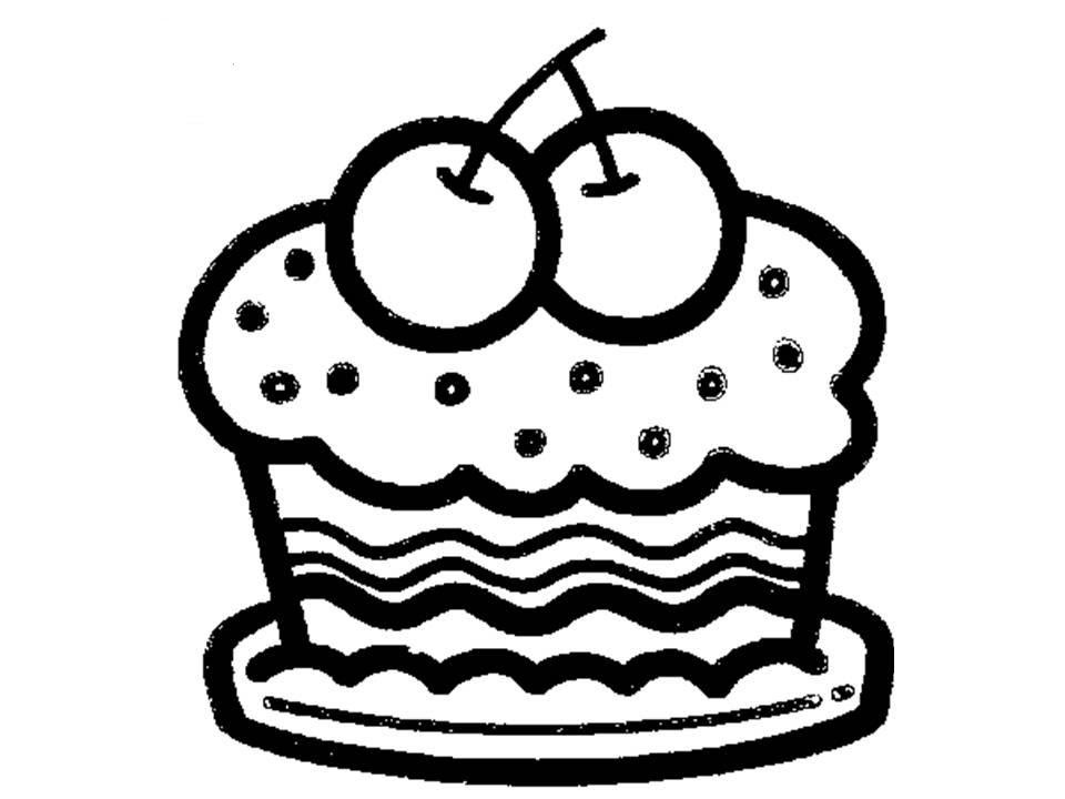 Cupcake Line Drawing Clipartsco