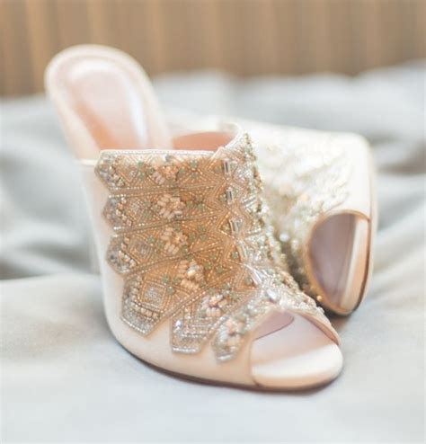 bridal shoe trend   mule arabia weddings