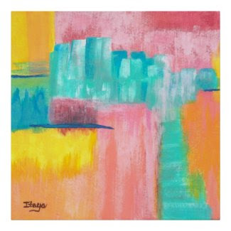 Dreamscape Large Abstract Art Original Painting Poster