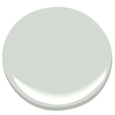 Oyster shell   Benjamin Moore   it's a soft blue-gray, quiet & calming and almost white