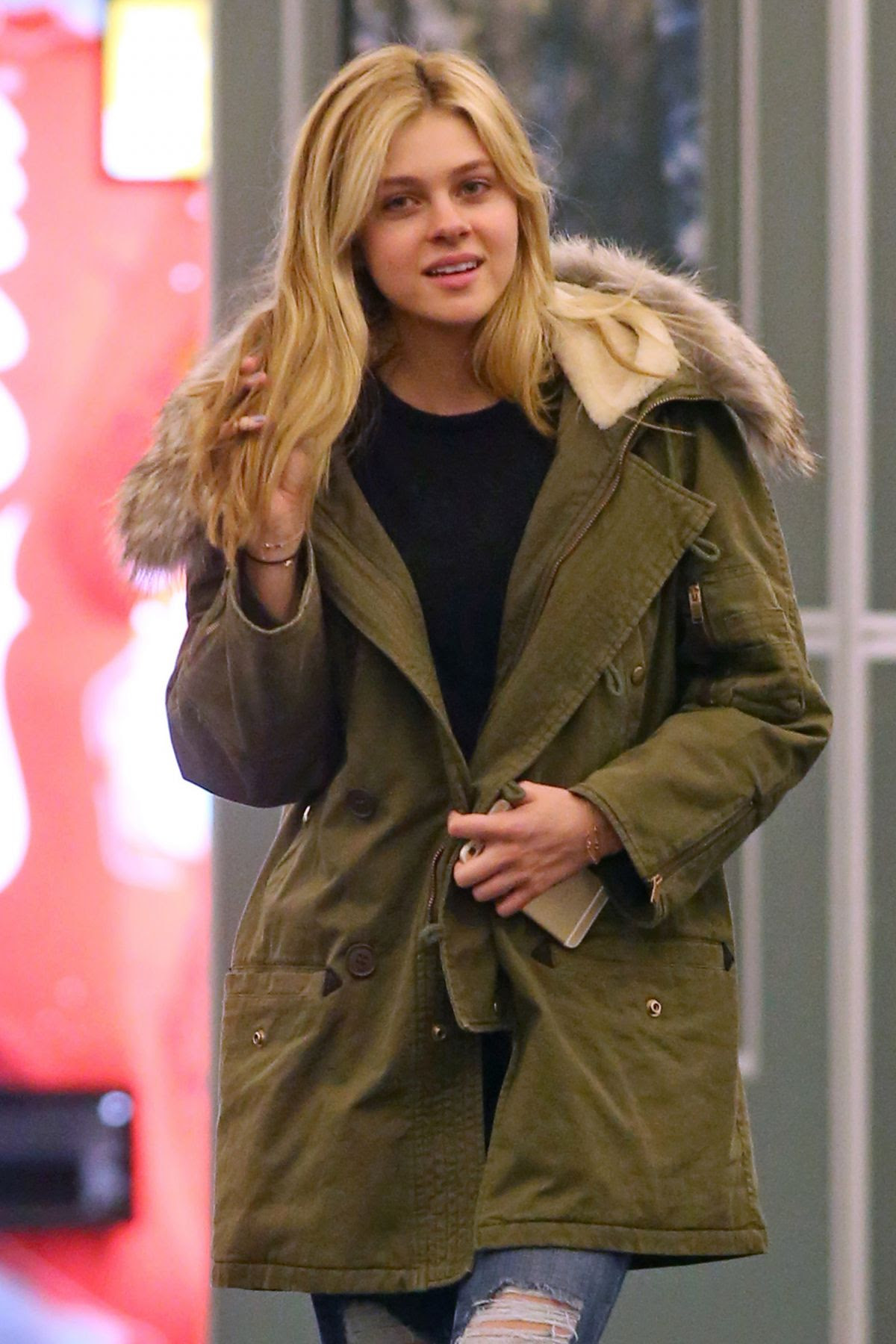 NICOLA PELTZ at Vancouver International Airport