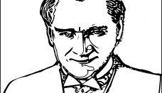 Atatürk Kocatepe Heykeli Silueti Boyama Sayfası