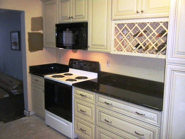 Uba Tuba Granite goes great with White Cabinets ...