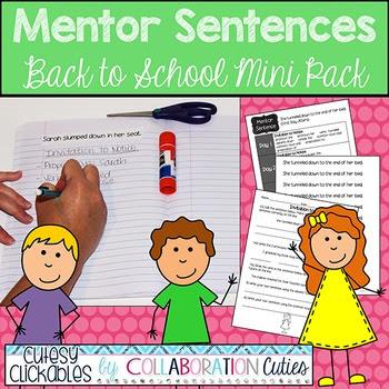 Mentor Sentences Back to School Mini Pack {Sentences with