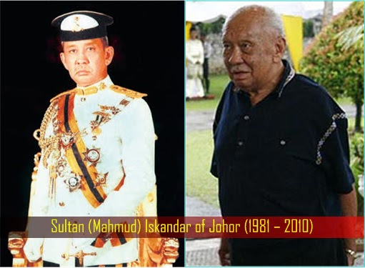 Sultan (Mahmud) Iskandar of Johor (1981 – 2010)