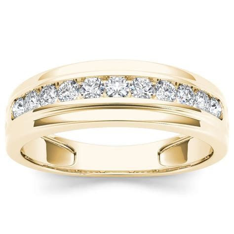 De Couer 10k Yellow Gold 1/2ct TDW Diamond Men's Wedding