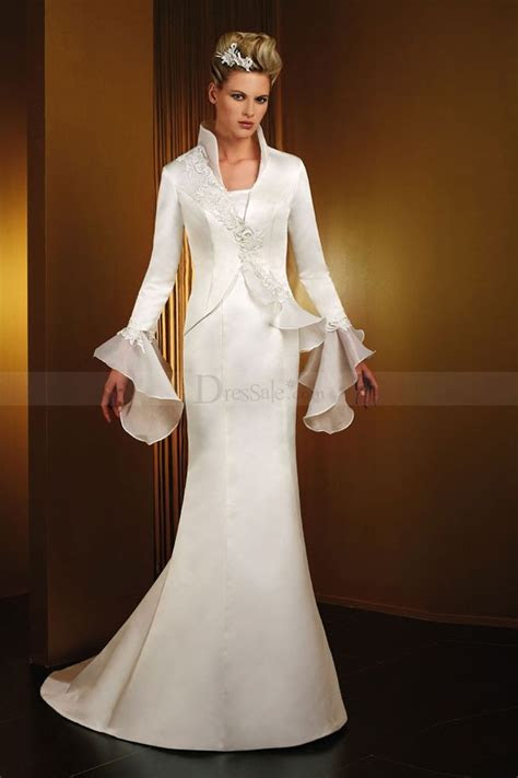High collar wedding dress   Bride Over 50: Style Ideas