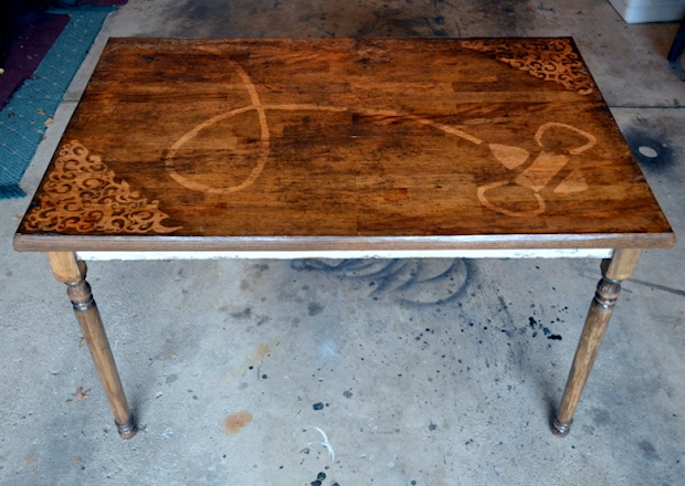 Farmhouse Table Makeover With Honeybee Design