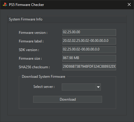 PS5 Firmware Checker v1.0 Released
