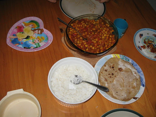 Chick pea curry with chapati