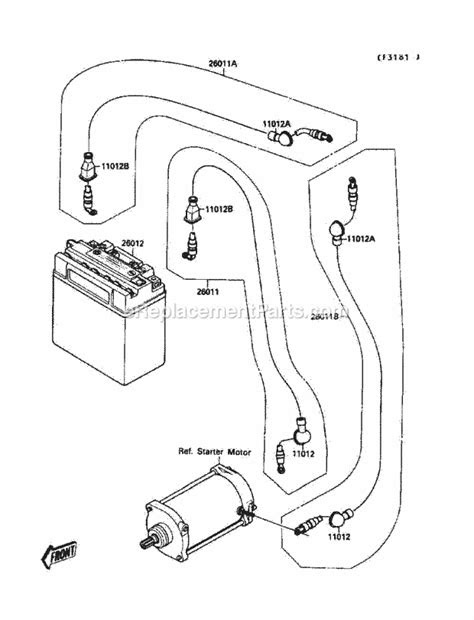 Kawasaki JS650-A3 Parts List and Diagram - (1989