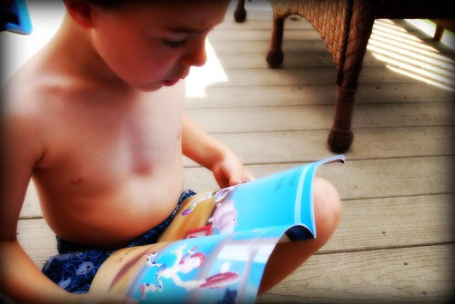 Nick, reading on his own!