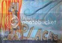 Flag High Places Hand Painted Silk Worship Flag