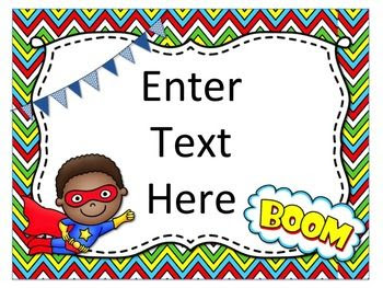 Superhero Themed Posters {Editable} | Back to school night, Guided ...