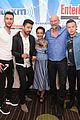 dominic cooper ruth negga get playful at comic con lounge 01