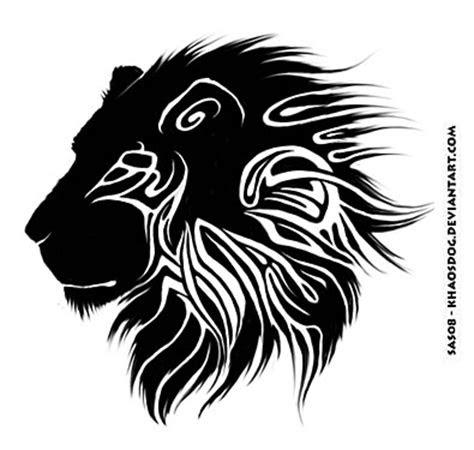 quality black ink tribal lion tattoo design
