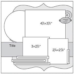 Scrapbook Page Sketch 265