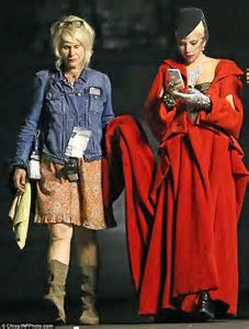 Lady Gaga gets help from assistant as she films American