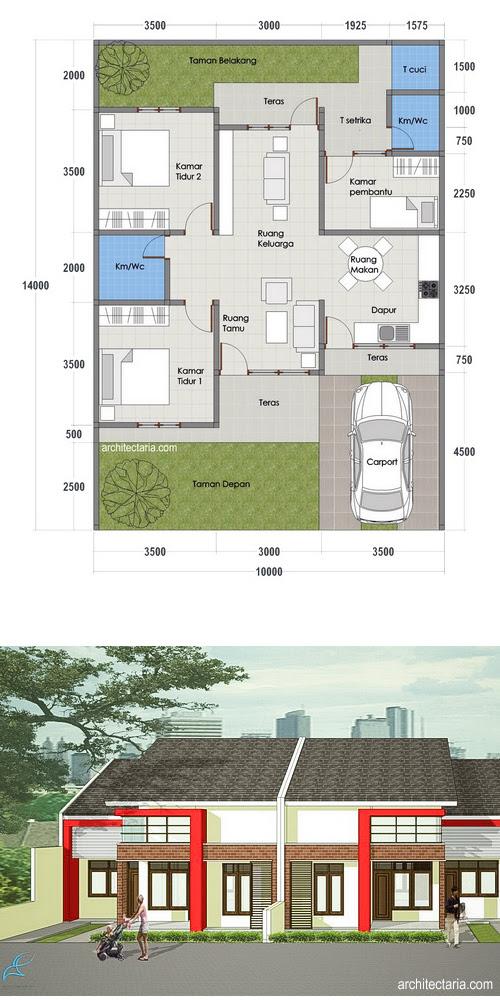 Desain Rumah Mungil Type 45 | PT. Architectaria Media Cipta  HD