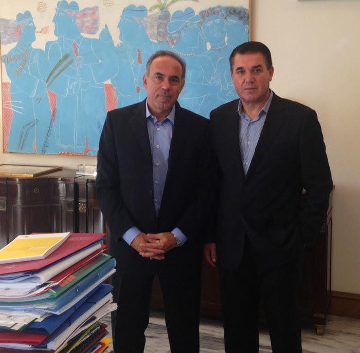 Με τον Υπουργό Παιδείας κ. Αρβανιτόπουλο Κωνσταντίνο.
