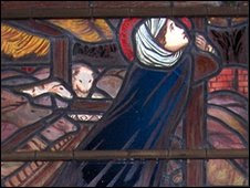 Stained-glass window in Christ Church, Oxford