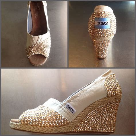 diy wedding toms wedges swarovski crystals wedding
