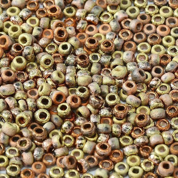 s47695 Czech Seedbeads - 8/0 Seedbead - Crystal Etched California Gold Rush (20 grams)