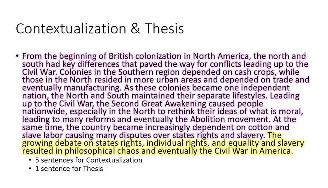 how to write a good thesis statement with contextualization
