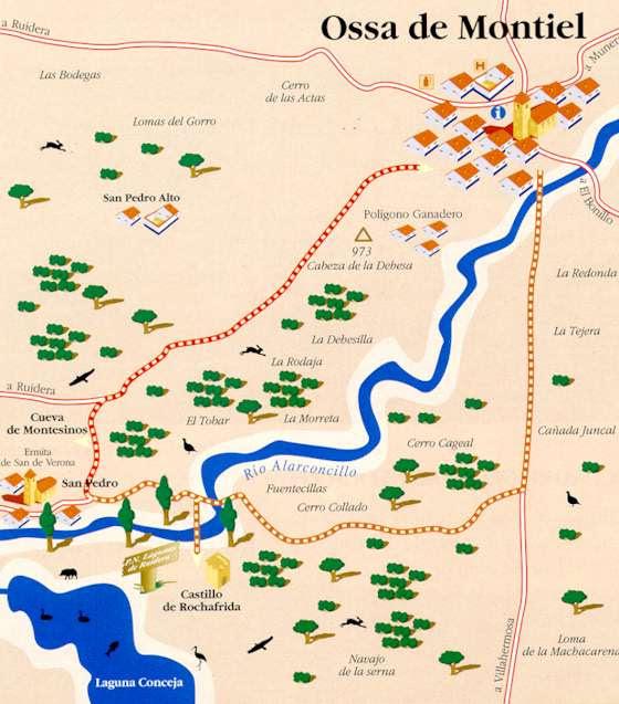 Resultado de imagen de cueva de Montesinos mapa