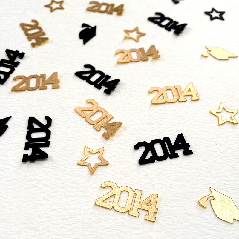 Make your own 2014 Graduation Confetti